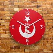 Fmc1214 Tasarımlı Mdf Ahşap Duvar Saati 39cm
