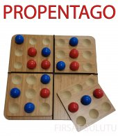 Ahşap Pentago Strateji Ve Zeka Oyunu Dikkat Eksikliği Giderme