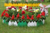 32 Adet Dekoratif Renkli Geçirmeli Bahçe Çiti 17cmx32 Adet 544 Cm
