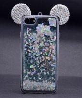 Iphone 5 5s Mickey Silikon Arka Kapak Beyaz + Ekran Koruyucu Temp