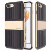 Baseus Travel Gold İphone 8 Plus Kılıf Arka Koruyucu Kapak