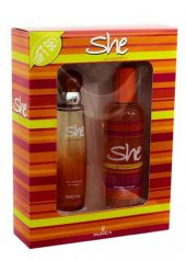 She Is Happy Women Kofre Edt+deo