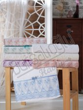 Evinize Moda Kadife İnci Tül 50x90 6 Lı Havlu