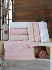Evinize Moda Kadife İşleme 50x90 6 Lı Havlu
