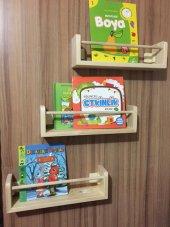 çocuk Odası Ahşap Soft Montessori Üçlü Raf Kitaplı...