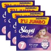 Sleepy Sensitive Bebek Bezi Xxlarge 7 Beden 32li 4lü Set