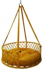 Altınoluk 80&#039 Lik Davul Salıncak Sarı Sarı Minderli