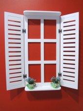 Ahşap Panjur Dekoratif Panjur Çiçeklikli Pencere Model Dekoratif