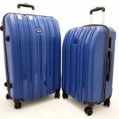 ac4891da94cad Tutkun Safari Model Plastik Mavi İndigo 2' Li Kırılmaz Valiz Set