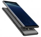 Samsung Galaxy Note 8 Kılıf Lopard Buttom Kapak Şeffaf Arka Korum