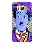 Samsung Galaxy S8 Kılıf Charlie Chaplin Silikon Kap Kapak + Kırıl