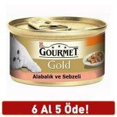 Gourmet Gold Alabalık Sebzeli Parça Etli Kedi Konservesi 85 Gr