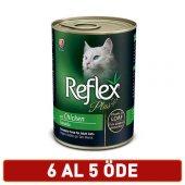 Reflex Plus Pate Tavuklu Kedi Et Parçacıklı Konserve 400 Gr 6 Al 5 Öde