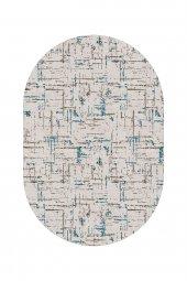 Passion 2171 120*180cm Mavi Oval Kaydırmaz Halı