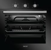 Oscar 8032 Siyah Cam Elektro Turbo Ankastre Fırın