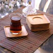 Bambu Kare Çay Tabağı
