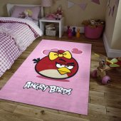 Merinos Halı Lisanslı Angry Birds Valentine Çocuk Halısı 133x190