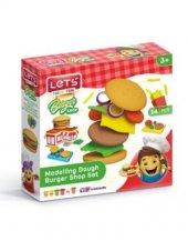 Lets Oyun Hamuru Hamburger Seti L9003 14 Parça
