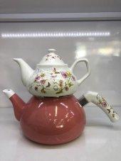 Laviva Flora Emaye Porselen Pastel Çaydanlık