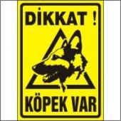 Dikkat Köpek Var Uyarı Levhası (Alman Kurdu) Uyarı Levhası 35x50 Cm Dekota