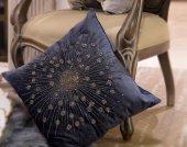 Sadehomedecor Lucky Art Parlement Mavi Yastık 45 Cm