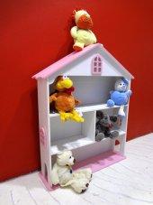 Oyuncak Dolap Bebek Evi Kitaplık Raf Çocuk Bebek Ahşap Montessori