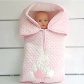Tavşan Nohut Polar Kışlık Bebek Kundak Battaniye 3 Renk