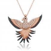 Gümüş Zümrüdü Anka Kuşu Kolye