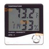 Dijital Sıcaklık Nem Ölçer Alarmlı Masa Saati Isı Termometre Ateş
