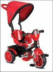 Babyhope 121 Bobo Speed Üçteker Bisiklet Oyuncak Sepetli Müzikli Kirmizi