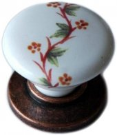Porselen Eskitme Düğme Dolap Mobilya Kulpu G 379