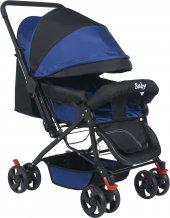 Baby Mavi Bebek Arabası Tam Yatarlı Bebek Arabası