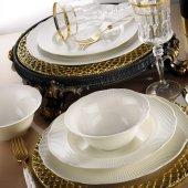 Kütahya Porselen Bone İlay 24 Parça 6 Kişilik Yemek Takımı