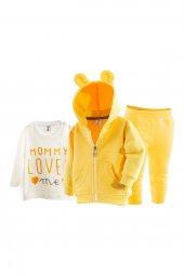 Kapüşonlu Kışlık Bebek Pijama Takımı