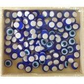 Ahşap Kutu İçinde Yapışkanlı Nazar Boncuğu Küçük 50 Adet 0.7mm
