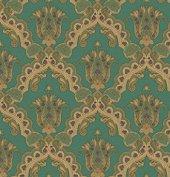 Kalinka 5809 5 Yeşil Damask Desenli Duvar Kağıdı