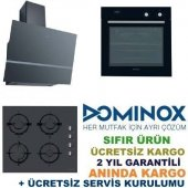 Dominox Siyah Ankastre Set Do86mntbk + Dhg6044gbkse + Dpj615vbk