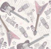 Pop Art 512058 Gitar Desenli Duvar Kağıdı