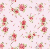 Floral Collection 5034 Gül Görünümlü Duvar Kağıdı