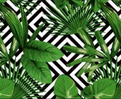 Elemental 42021 1 Tropikal Yeşil Yaprak Desenli Duvar Kağıdı