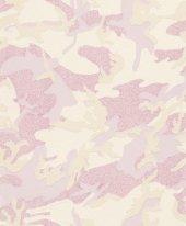 Blue Velvet Mix 492569 Lila Kamuflaş Desenli Duvar Kağıdı