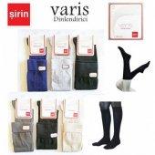 3 Adet Bayan Varis Çorabı Dizaltı Dinlendirici Çorap