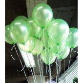 50 Adet Metalik Sedefli Açık Yeşil Balon