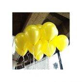 25 Adet Metalik Sedefli Sarı Balon 1.kalite