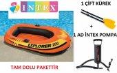 Intex 58330 Explorer 200 Çift Kişilik Şişme Bot Tam Dolu Settir