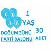 1 Yaş Balonu Doğum Günü Balonu 30adet