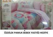 özdilek Bebek Uyku Seti Pink Animals 8 Parça , Özdilek Pamuk Bebek Yastığı Hediyeli
