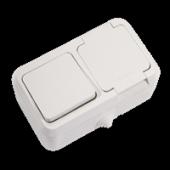 Nemliyer Anahtar+kapaklı Topraklı Priz Beyaz