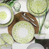 Kütahya Porselen Zeugma 24 Parça 6 Kişilik Yemek Takımı Yeşil