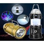 Disko Işıklı Kamp Lambası Işıldak Fener 3 Fonksiyonlu